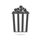 Popcorn simple icon. Vector icon Royalty Free Stock Photography