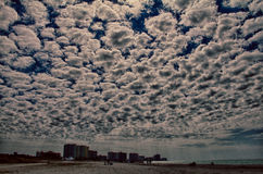 Popcorn Sky Over Clearwater Florida Stock Photo