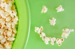 Popcorn smile royalty free stock photography