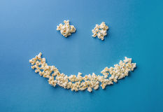 Popcorn smily. A smily sign made by pop corn Stock Photo