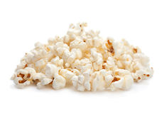 Popcorn snack on white Royalty Free Stock Photography