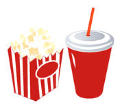 Popcorn and Soda Stock Images