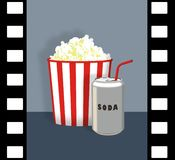 Popcorn and Soda Stock Photography