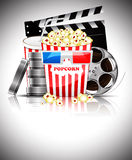 Popcorn and soda at the movies Stock Image