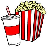 Popcorn and Soda. A vector illustration of a Popcorn and Soda royalty free illustration