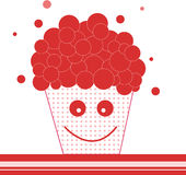 Popcorn sorridente astratto Immagine Stock