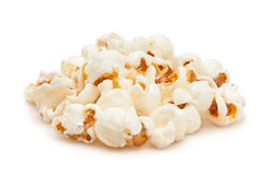 Popcorn. Stack on white background Stock Photos