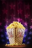 Popcorn on stage Stock Photography