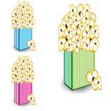 Popcorn in a strisce multi-colored Fotografia Stock Libera da Diritti