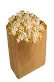 Popcorn su bianco Fotografia Stock