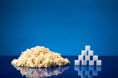 Popcorn and sugar Royalty Free Stock Images