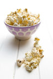 Popcorn on table Stock Photos