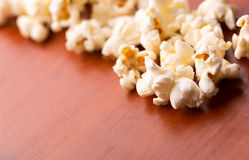 Popcorn on the table Stock Image