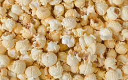 Popcorn texture background stock photography