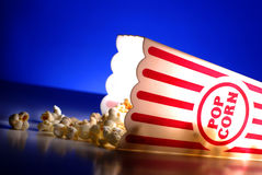 Popcorn from a Theater Movie Snack Stock Photo
