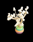 A popcorn tree, a children creativity Stock Images