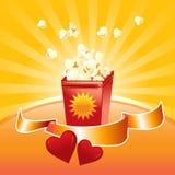 popcorn två stock illustrationer