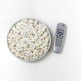 popcorn tv obrazy stock