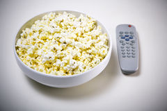 Popcorn tv Royalty Free Stock Photo