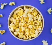 Popcorn in un pacchetto Fotografia Stock