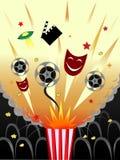 Popcorn und Film Lizenzfreie Stockfotografie