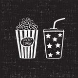 Popcorn und Getränk Stockbild