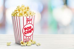 Popcorn. Unhealthy Eating Box Isolated Snack Food Nobody Royalty Free Stock Photo