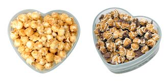 Popcorn for Valentine day Royalty Free Stock Image