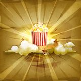 Popcorn vector background Stock Image