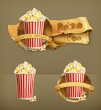 Popcorn vector icons Royalty Free Stock Images