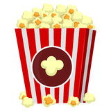 Popcorn. Vector Illustration of Box of Popcorn Royalty Free Stock Photo