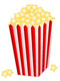 Popcorn Vector Illustration Royalty Free Stock Images