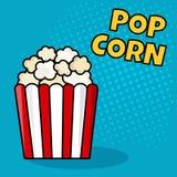 Popcorn Vektorillustration i popet Art Style stock illustrationer