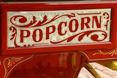 Popcorn vendor's cart. Colorful popcorn vendor's cart Royalty Free Stock Images