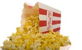 Popcorn on White Stock Images
