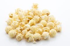 Popcorn  on the white background. Stock Images