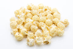 Popcorn  and the white background. Stock Photo