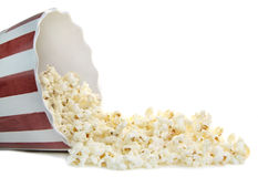 Popcorn on a white background Royalty Free Stock Photos