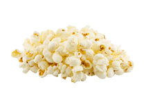 Popcorn on the white background Royalty Free Stock Photos