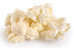 Popcorn  on white background. Royalty Free Stock Photography