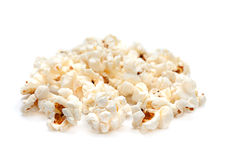 Popcorn on white Stock Images