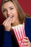 Popcorn Woman Royalty Free Stock Image