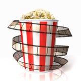 Popcorn wraped film strip Stock Photos
