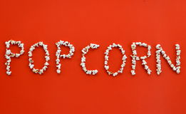 Popcorn writing Royalty Free Stock Image