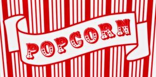 Popcorn-Zeichen Stockfoto