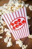 Popcornbehållare Arkivfoto