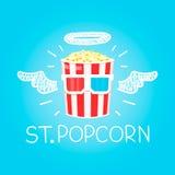 Popcornconcept Royalty-vrije Stock Afbeeldingen