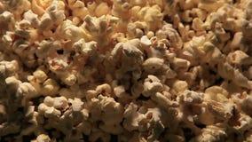 Popcornhintergrund niemand stock video