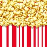 Popcornmuster Köstlicher und bunter nahtloser Hintergrund Stockfotos