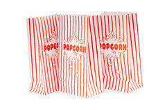 Popcornpåse som isoleras på whiten Royaltyfri Foto